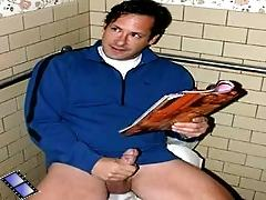 A man caught wanking in the bathroom gets humiliated