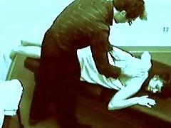 Security cam footage of a couple fucking at a massage parlor